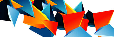 Triangle mosaic abstract background, 3d triangular low poly shapes. Geometric vector illustration for covers, banners, flyers and posters and other