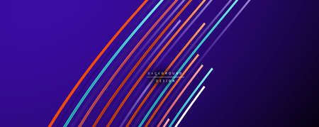 Abstract colorful lines vector background. Internet, big data and technology connections concept, abstract template Ilustracja