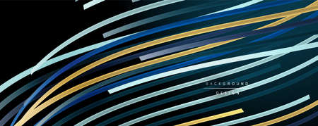 Abstract colorful lines vector background. Internet, big data and technology connections concept, abstract template