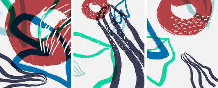 Social media abstract backgrounds. Abstract hand drawn doodles. Vector illustration for covers, banners, flyers