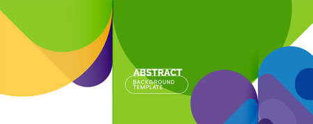 Modern geometric round shapes and dynamic lines, abstract background. Vector illustration for placards, brochures, posters and banners Vektorové ilustrace