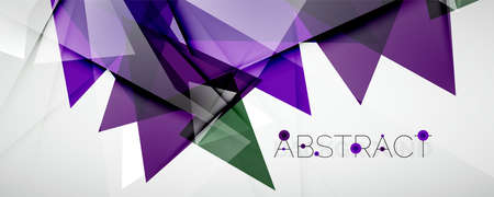 Geometric abstract background. Color triangle shapes. Vector illustration for covers, banners, flyers and posters and other designs