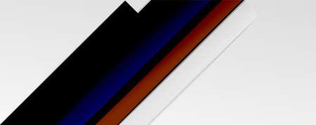 Color abstract lines trendy geometric background for business or technology presentation, internet poster or web brochure cover, wallpaper Ilustração Vetorial