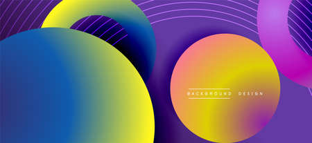 Color block vector abstract background, dynamic shapes on color gradient. Trendy geometric abstract background for your text, graphics Ilustración de vector