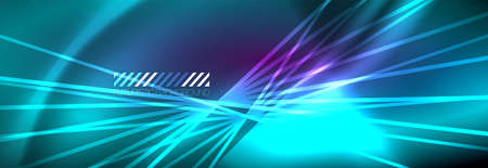 Neon dynamic beams vector abstract wallpaper background. Wallpaper background, design templates for business or technology presentations, internet posters or web brochure covers
