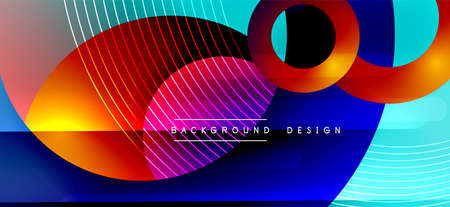 Color block vector abstract background, dynamic shapes on color gradient. Trendy geometric abstract background for your text,  graphics