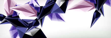 Vector 3d triangles and pyramids abstract background for business or technology presentations, internet posters or web brochure covers
