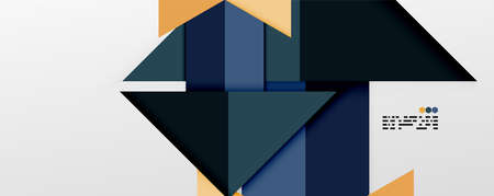 Shiny color triangles and geometric shapes vector abstract background Иллюстрация