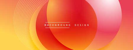 Gradient circles with shadows. Vector techno abstract background. Modern overlapping forms wallpaper background, design template Ilustración de vector