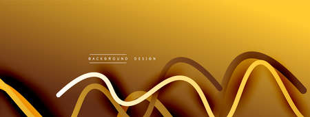 Abstract gradient background with wave line with shadow effect. Geometric composition. 3D shadow effects and fluid gradients Vecteurs