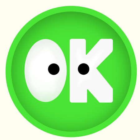 Green OK clothing web button