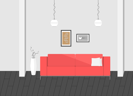sofa: interior minimal modern living room
