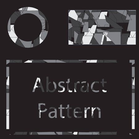urban sprawl: abstract pattern background geometry on black back Illustration