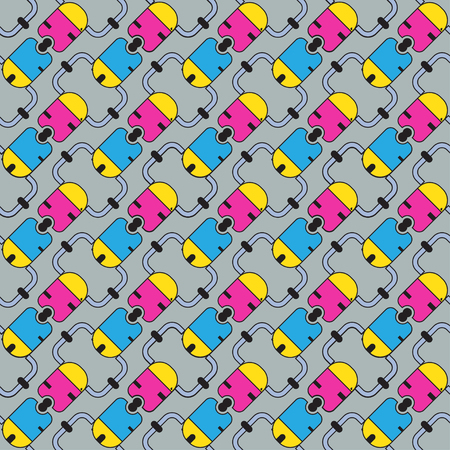 interlock: abstract pattern of colored crosses for cloth