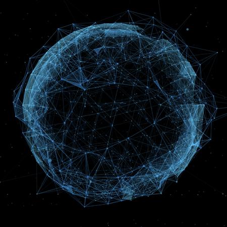 neue Technologien und virtuellen Kugel Globus blaue Hologramm