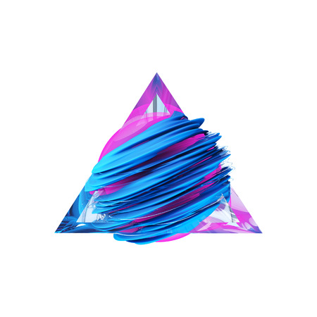 render: Render abstract field inside a glass triangle