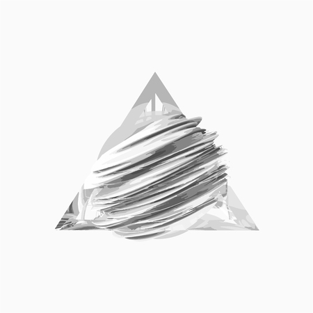 vertex: Creative abstract field inside a glass triangle