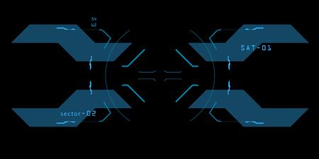 Elemento de la interfaz. Una vista en una nave espacial. La interfaz del futuro.