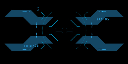 Element of the interface. A sight on a spaceship. The interface of the future.