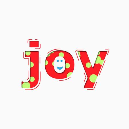 Colorful Words Joy