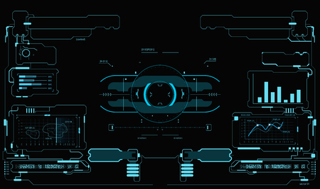 Sci-Fi UI Pack. Futuristic user interface for HUD interface, touch panel, or game interface