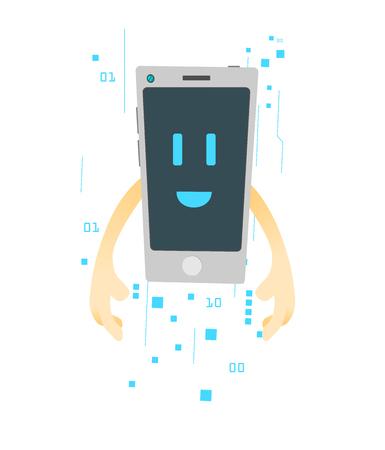 Imagen de dibujos animados de smartphone