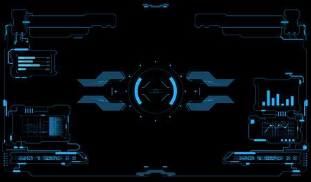Sci-Fi UI 팩. 미래 지향적 인 사용자 인터페이스. HUD 인터페이스. 터치 패널. 게임 인터페이스