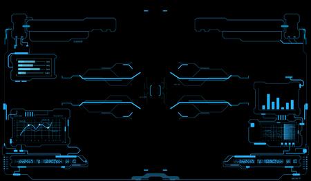 Futuristic user interface. HUD interface. Game interface Ilustração