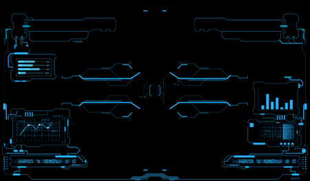 Futuristic user interface. HUD interface. Game interface Illustration