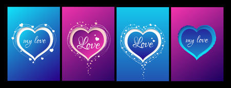 Coleção De Cartão De Namorados Com Coração De Linha E Tudo Que Você Precisa é Frase De Amor Cartão Postal Amor