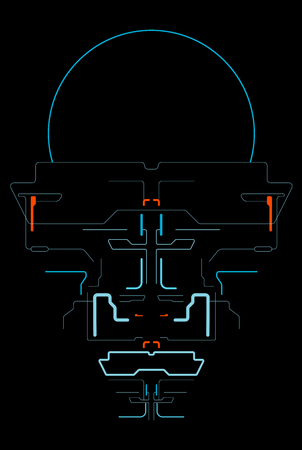 Space interface for the game. Futuristic interface. In-game menu. Touch panel. HUD control panel. Template virtual interface for spaceship simulator