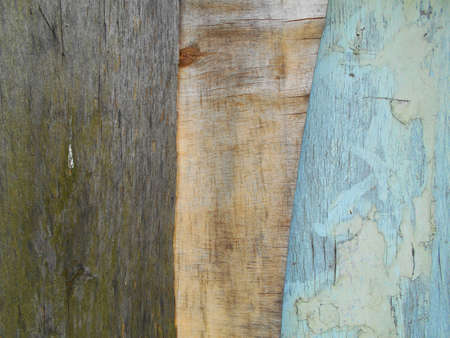 painted wood: Old painted wood surfaces Stock Photo
