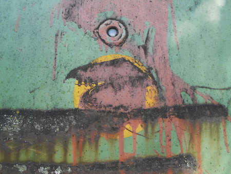 crack: Old painted metal surfaces