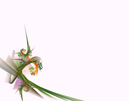 Festive abstract bunch of flowers isolated on white Stock Photo - 7008057
