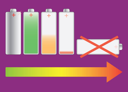expire: Battery Life Cycle - abstract illustration Illustration