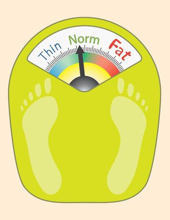 抽象的な体重計 - ベクトル イラスト  イラスト・ベクター素材