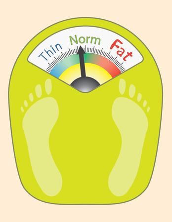 thinness: Abstract Bathroom Scales - vector illustration