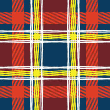 Abstract Tartan in red, yellow and white tones Stock Vector - 8023618