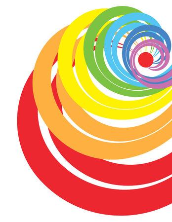 gamma: espiral abstracto con colores de gamma de arco iris Vectores