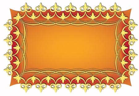 vintage golden festive card template and decorative illustration Stock Illustration - 8544330