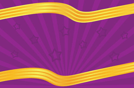 festive leaflet in purple and golden color tones Vector