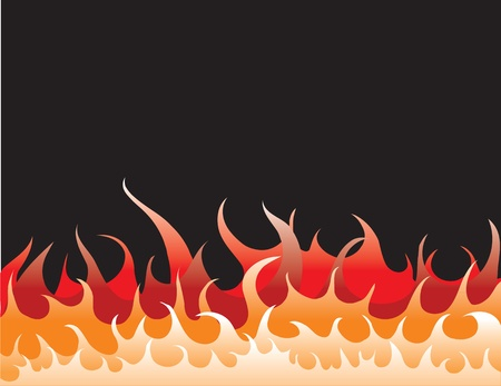 fire flames on black background Stock Vector - 9368784