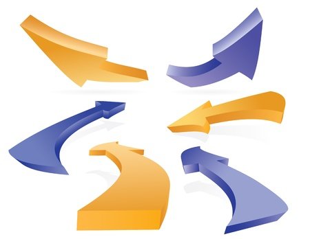 3D Arrow icon set on white background Stock Vector - 9418720