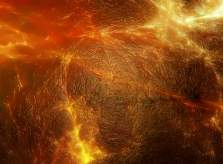 eruptive: abstract illustration of volcanic magma Stock Photo