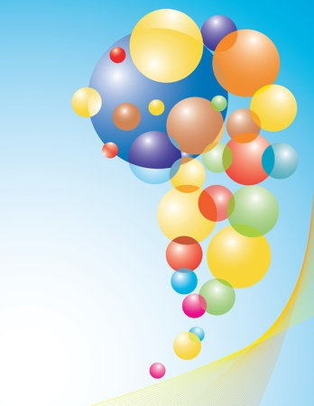 Set of colored balloons. Abstract vector illustration.