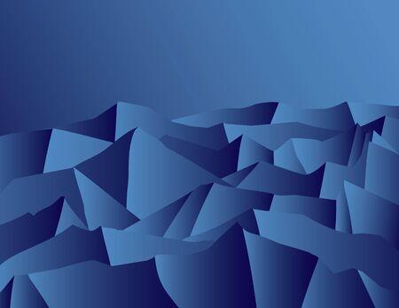 Mountain Night. Abstract illustration. Stock Vector - 9669227