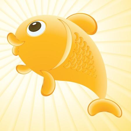 funny goldfish illustration