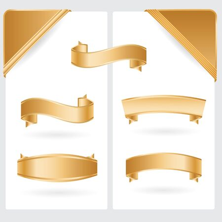 curled corner: golden ribbons and corners collection