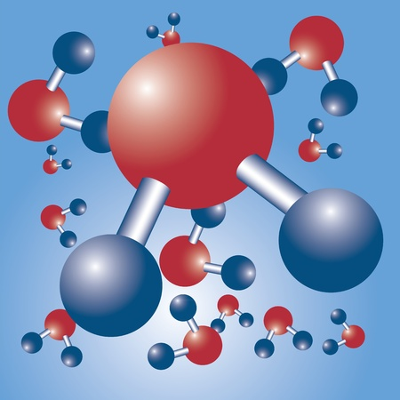 Water formula chemical science structure Vector