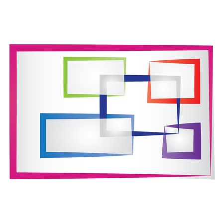 Set of abstract colored frames.